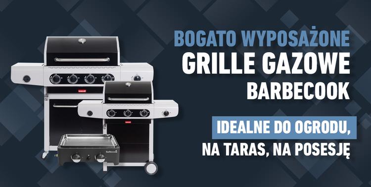 Grafika bogatej oferty grilli gazowych Barbecook
