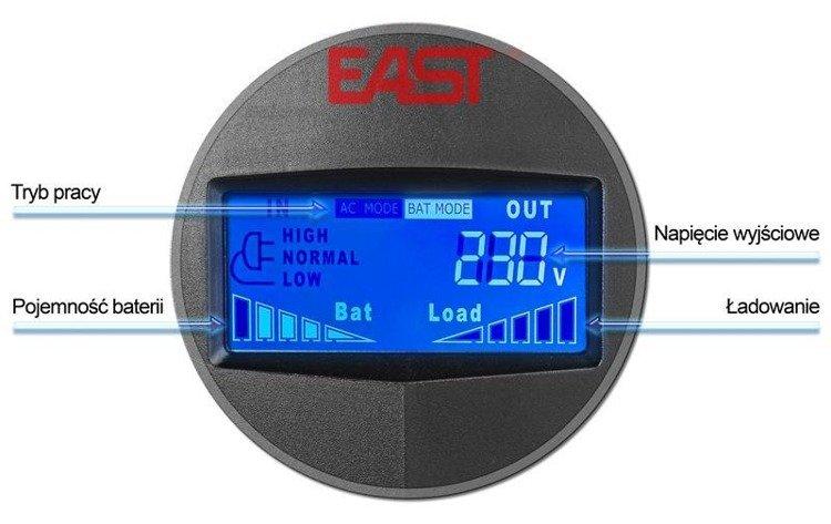 UPS EAST AT-650-LCD