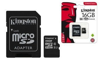 KARTA PAMIĘCI SD KINGSTON 16GB Z ADAPTEREM