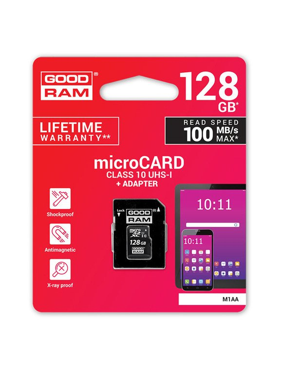 KARTA PAMIĘCI SD GOODRAM UHS1 CL10 128GB + ADAPTER